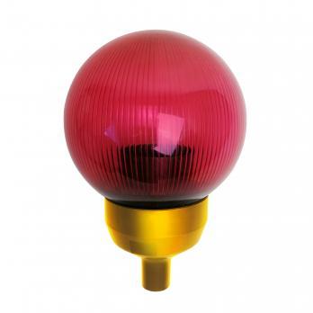 UFP-P150-N60 RED-GOLD Основание с переходником на трубу D20мм и с красным плафоном D150мм. для изготовления ростовых цветов. Золотой. ТМ Uniel
