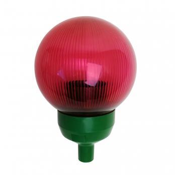 UFP-P150-N60 RED-GREEN Основание с переходником на трубу D20мм и с красным плафоном D150мм. для изготовления ростовых цветов. Зеленый. ТМ Uniel