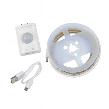 ULS-R21-2.4W-4000K-1.0M-RECH SENSOR Smart Light Комплект светодиодной ленты на самоклеящейся основе. 1м. IP65. Белый свет4000К. Аккумулятор Li-Ion 1100 мАч. в-к. ТМ Uniel.