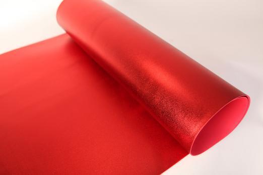 VR-FE4 40T20-S60X70-HPLM6201 Rosso-Красный Фоамиран металлик. толщина 2мм. лист 60x70см. в пачке из 10 листов. TM Volpe Rosa