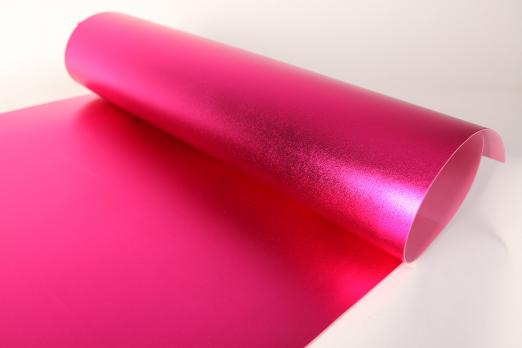 VR-FE4 40T20-S60X70-HPLM6202 Fucsia-Фуксия Фоамиран металлик. толщина 2мм. лист 60x70см. в пачке из 10 листов. TM Volpe Rosa
