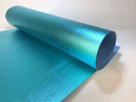 VR-FE4 40T20-S60X70-HPLM6206 Turchese-Бирюзовый Фоамиран металлик. толщина 2мм. лист 60x70см. в пачке из 10 листов. TM Volpe Rosa