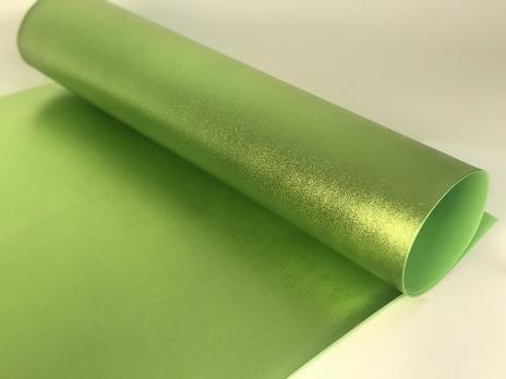 VR-FE4 40T20-S60X70-HPLM6208 Lime-Лайм Фоамиран металлик. толщина 2мм. лист 60x70см. в пачке из 10 листов. TM Volpe Rosa