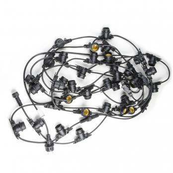 UDL-K111 80-E27-20M IP65 BLACK BELT-LIGHT Гирлянда Белт-Лайт. 20м + 1.5м сетевой шнур. 80 патронов E27. шаг 25см. Чёрная. TM Uniel.