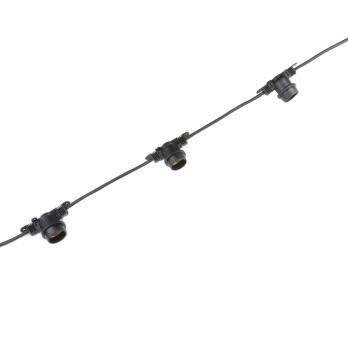 UDL-K120 200-E27-100M IP65 BLACK BELT-LIGHT Гирлянда Белт-лайт. 100 м + 1.5м сетевой шнур. 200 патронов E27. шаг 50см. Чёрная. TM Uniel.