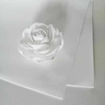 VR-PE6 15T20-S60Х70-LC101 SOFT White-Белый Фоамиран. толщина 2мм. лист 60x70см. в пачке из 10 листов. TM Volpe Rosa