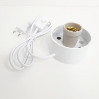 UFP-A01A-C10-170 WHITE Основание под плафон. с цоколем Е27. сетевой шнур с вилкой и выключателем. 1.7м в-к. для декоративных светильников. Белый.