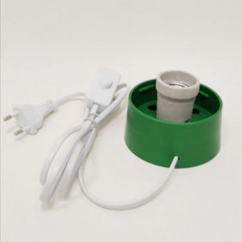 UFP-A01A-C10-170 GREEN-WHITE Основание под плафон. с цоколем Е27. сетевой шнур с вилкой и выключателем. 1.7м в-к. для декоративных светильников. Зеленый-белый.
