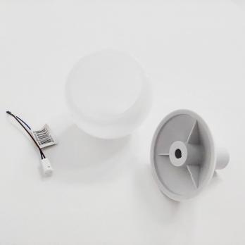 UFP-R80-N62-G4 OPAL-WHITE Комплект для изготовления декоративного светильника: рассеиватель опал D80мм. основание с переходником на трубу D16мм. патрон G4. Белый. TM Uniel