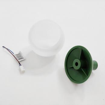 UFP-R80-N62-G4 OPAL-GREEN Комплект для изготовления декоративного светильника: рассеиватель опал D80мм. основание с переходником на трубу D16мм. патрон G4. Зеленый. TM Uniel