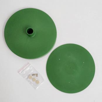 UFP-T60N GREEN Подставка D150мм для изготовления настольного светильника. под трубу D16мм. Зеленый. ТМ Uniel
