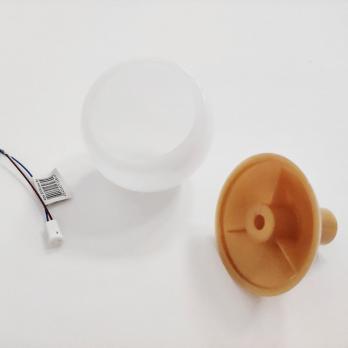 UFP-R80-N62-G4 OPAL-GOLD Комплект для изготовления декоративного светильника: рассеиватель опал D80мм. основание с переходником на трубу D16мм. патрон G4. Золотой. TM Uniel