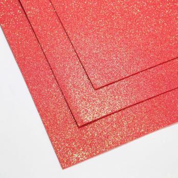 VR-FE4 40T13-S60X70-HPL1EIG009 Shimmer Rosso-Красный Фоамиран мерцающий. толщина 1.5мм. лист 60x70см. в пачке из 10 листов. TM Volpe Rosa