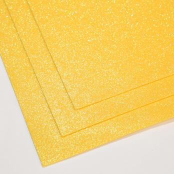 VR-FE4 40T13-S60X70-HPL11EIG012 Shimmer Mango-Манго Фоамиран мерцающий. толщина 1.5мм. лист 60x70см. в пачке из 10 листов. TM Volpe Rosa