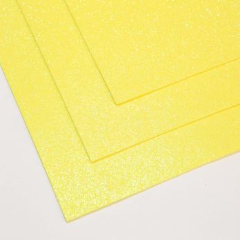 VR-FE4 40T13-S60X70-HPL12EIG007 Shimmer Di limone-Лимонный Фоамиран мерцающий. толщина 1.5мм. лист 60x70см. в пачке из 10 листов. TM Volpe Rosa