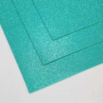 VR-FE4 40T13-S60X70-HPL18EIG015 Shimmer Malachite-Малахит Фоамиран мерцающий. толщина 1.5мм. лист 60x70см. в пачке из 10 листов. TM Volpe Rosa