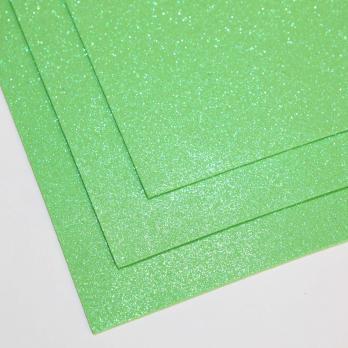 VR-FE4 40T13-S60X70-HPL19EIG001 Shimmer Mela verde-Зеленое яблоко Фоамиран мерцающий. толщина 1.5мм. лист 60x70см. в пачке из 10 листов. TM Volpe Rosa