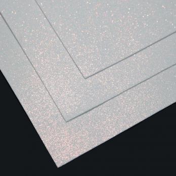 VR-FE4 40T13-S60X70-HPL24EIG013 Shimmer Bianco con oro-Белый с золотым блеском Фоамиран мерцающий. толщина 1.5мм. лист 60x70см. в пачке из 10 листов. TM Volpe Rosa