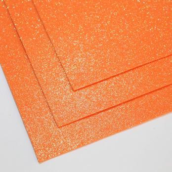 VR-FE4 40T13-S60X70-HPL25EIG020 Shimmer Arancio-Оранжевый Фоамиран мерцающий. толщина 1.5мм. лист 60x70см. в пачке из 10 листов. TM Volpe Rosa