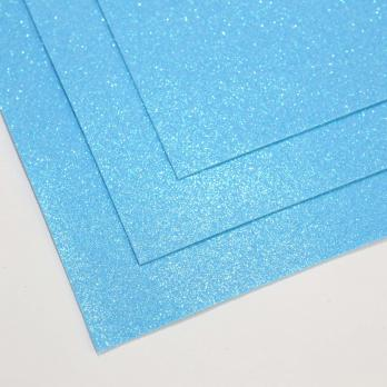 VR-FE4 40T13-S60X70-HPL30EIG030 Shimmer Azurro-Голубая лазурь Фоамиран мерцающий. толщина 1.5мм. лист 60x70см. в пачке из 10 листов. TM Volpe Rosa