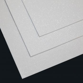 VR-FE4 40T13-S60X70-HPL45EG046 Glitter Bianco-Белый Фоамиран глиттерный. толщина 1.5мм. лист 60x70см. в пачке из 10 листов. TM Volpe Rosa