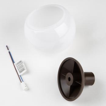 UFP-R95-N63-G4 OPAL-CHOCOLATE Комплект для изготовления декоративного светильника: рассеиватель опал D95мм. основание с переходником на трубу D20мм. патрон G4. Шоколадный. TM Uniel