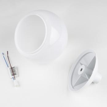 UFP-R120-N64-G4 OPAL-WHITE Комплект для изготовления декоративного светильника: рассеиватель опал D120мм. основание с переходником на трубу D20мм. патрон G4. Белый. TM Uniel