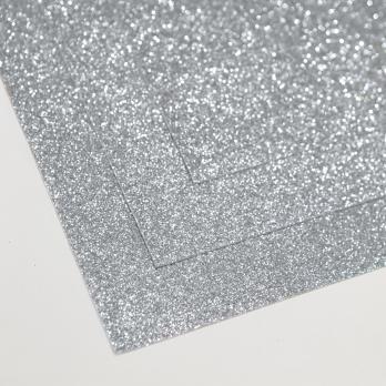 VR-FE4 40T15-S60X70-HPL46EG050 Glitter Argento scuro-Темное серебро Фоамиран глиттерный. толщина 1.5мм. лист 60x70см. в пачке из 10 листов. TM Volpe Rosa
